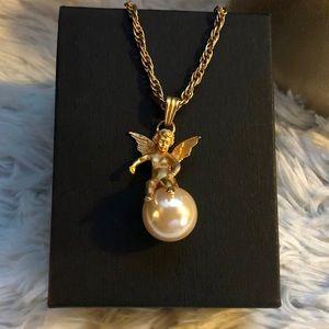 Cherub Angel Necklace ☁️💫